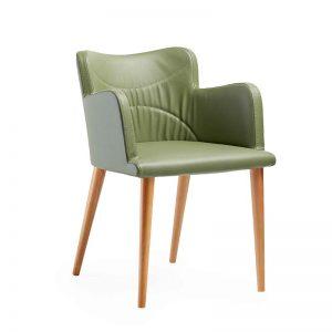 nero-sandalye-ahsap-ayakli